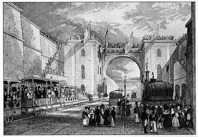 Inauguration Photograph - Liverpool Manchester Railway by Cci Archives