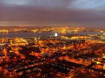 Scouse Photograph - Liverpool Wheel And River Mersey by Steve Kearns