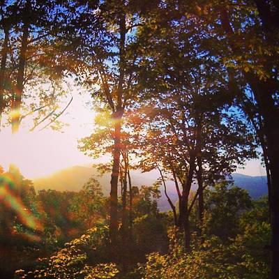 Livin A Mountain Morning Print by John Adams