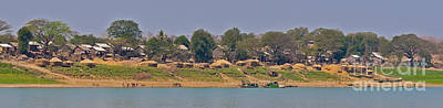 Bamboo House Photograph - Living Along The Irrawaddy River by Beth Wolff