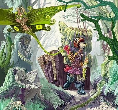 Living In A Swamp Print by Augustinas Raginskis