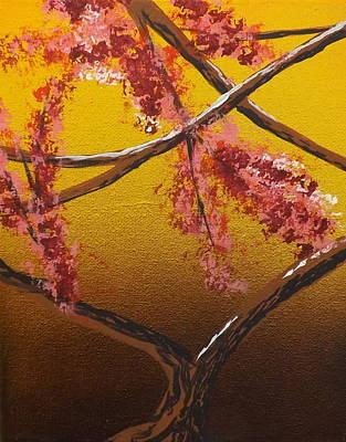 Burnt Umber Painting - Living Loving Tree Bottom Center by Darren Robinson