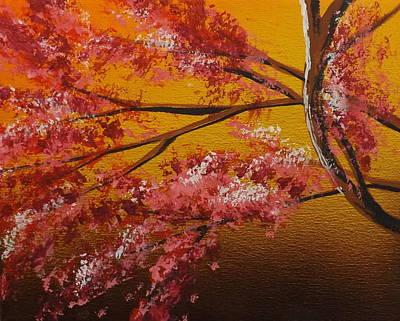 Burnt Umber Painting - Living Loving Tree Bottom Left by Darren Robinson