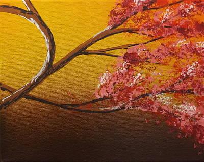 Burnt Umber Painting - Living Loving Tree Bottom Right by Darren Robinson