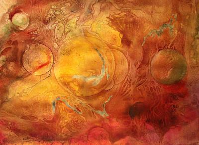 Inktense Painting - Living Matrix by Ellen Starr