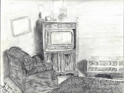 Livingroom Print by Angela Pelfrey