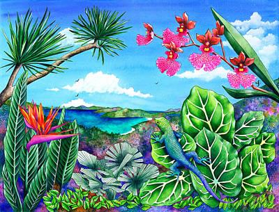 Lizard Latitudes Print by Carolyn Steele