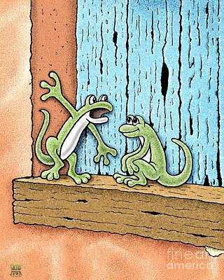 Lizard Lore Print by Cristophers Dream Artistry