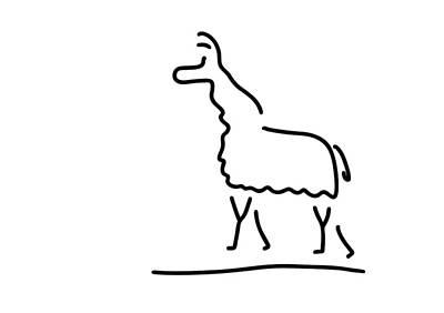 Llama Drawing - Llama Alpaca by Lineamentum
