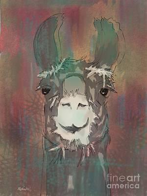 Llama Digital Art - Llama Dama Dama Ding Dong by Robin Wiesneth