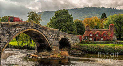 Courthouse Photograph - Llanrwst Cottage by Adrian Evans