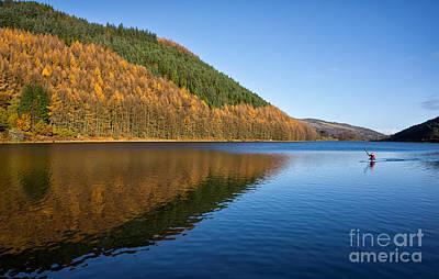 Canoe Photograph - Llyn Geirionydd by Adrian Evans
