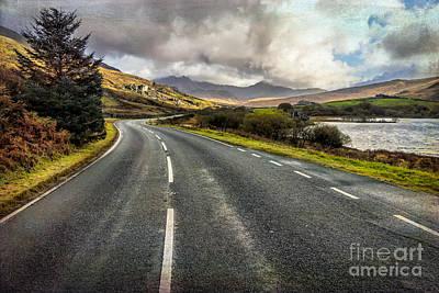Llynnau Mymbyr Pass Print by Adrian Evans