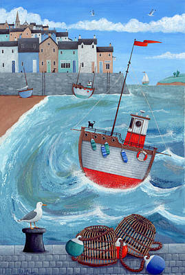 Lobster Pot Print by Peter Adderley