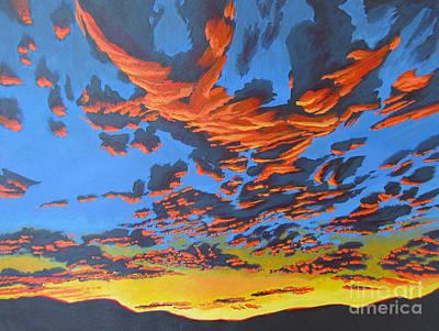 Lobster Sky Print by Vanessa Hadady BFA MA