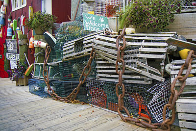 Lobster Traps Photograph - Lobster Traps And Such by Betsy C Knapp