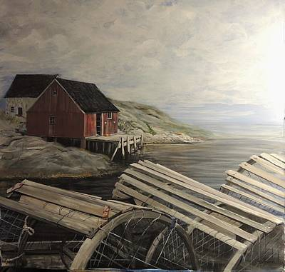 Lobster Traps Original by Deborah Boak