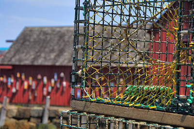 Row Boat Photograph - Lobster Traps In Rockport by Joann Vitali