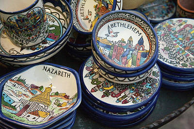 Local Ceramic Ware With Biblical Themes Print by Dave Bartruff