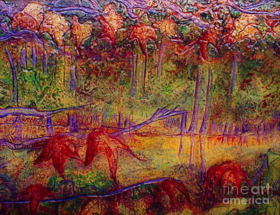 Autumn Landscape Mixed Media - Local Color by D Renee Wilson