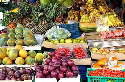 Passionfruit Photograph - Local Corner Fruit Store In Taiwan by Yali Shi