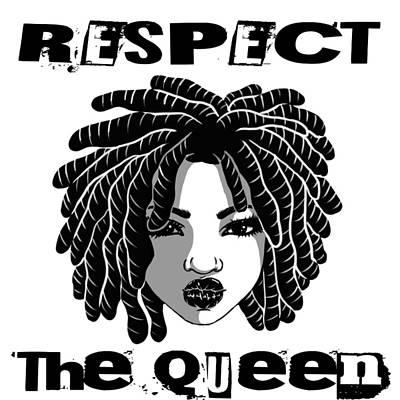 Hiphop Digital Art - Locc'd Queen by Respect the Queen