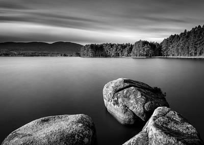 Black And White Rural Photograph - Loch Garten by Dave Bowman