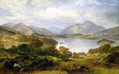 Mountainous Painting - Loch Lomond, 1861 by Horatio McCulloch