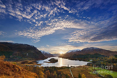 Loch Shiel Sunset Print by Rod McLean