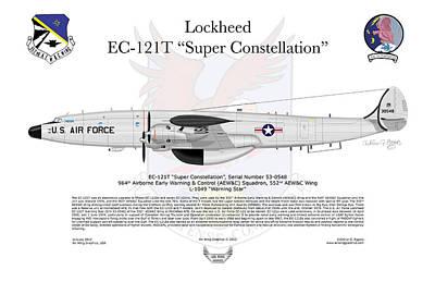 Lockheed Ec-121t 964thaewc Print by Arthur Eggers