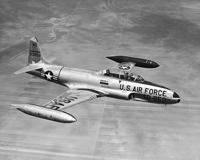 Single Object Photograph - Lockheed T-33 Jet  Trainer by Underwood Archives