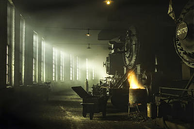 Engine House Photograph - Locomotive Breath by Peter Chilelli