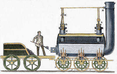 Train Drawing - Locomotive by George Stephenson