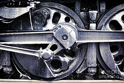 Locomotive Drive Wheels Print by Olivier Le Queinec