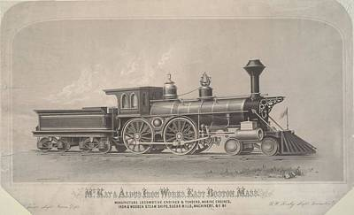 Locomotive Engines Print by MotionAge Designs