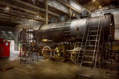 Locomotive - Repairing History Print by Mike Savad