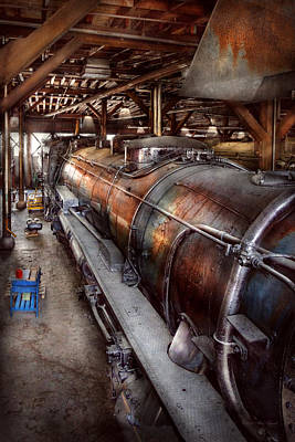 Locomotive - Routine Maintenance  Print by Mike Savad