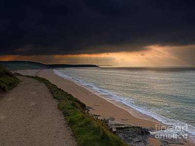 Seascape Photograph - Loe Bar Cornwall by Louise Heusinkveld