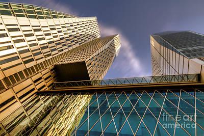 Wolkenkratzer Photograph - Lofty Heights - Cracked Shapes by Juergen Schonnop