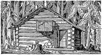 Log Cabin, 20th Century Print by Granger