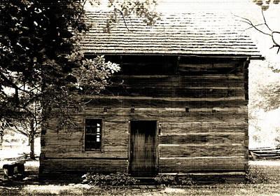 Log Cabin Home Print by Brenda Donko