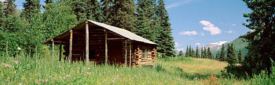 Log Cabin Photograph - Log Cabin In A Field, Kenai Peninsula by Panoramic Images