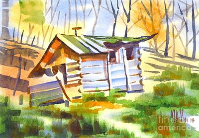 Log Cabin In The Wilderness Print by Kip DeVore
