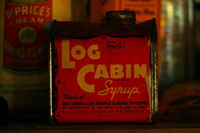 Log Cabin Photograph - Log Cabin Syrup by Jeff Swan