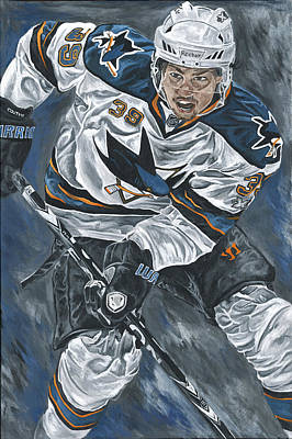 San Jose Sharks Painting - Logan Couture by David Courson
