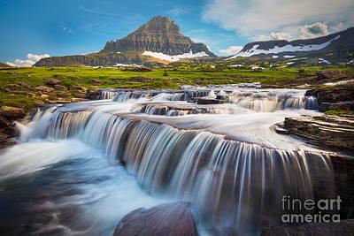 Logan Pass Falls Print by Inge Johnsson