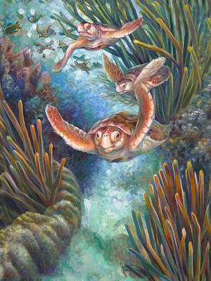 Loggerhead Sea Journey IIi Print by Nancy Tilles