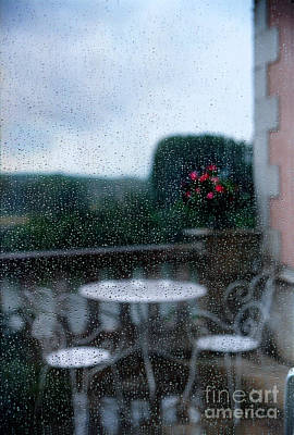 Table And Chairs Photograph - Loire Valley View by Madeline Ellis