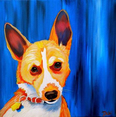 Pointy Ears Painting - Loki by Debi Starr