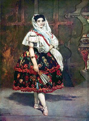 Gypsy Digital Art - Lola Of Valencia by Edouard Manet